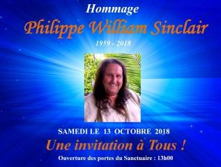 HOMMAGE À PHILIPPE WILLIAM SINCLAIR(1959-2018)