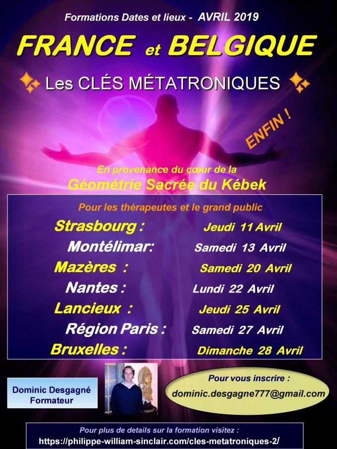 Pub PPT France Belgique - dates et lieux
